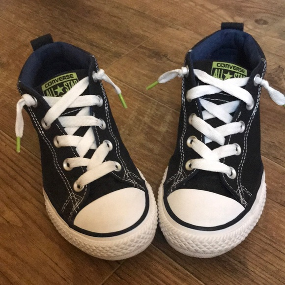 33a1263aec82 47% off Converse Shoes Boys Black Midtop Size 3 Youth